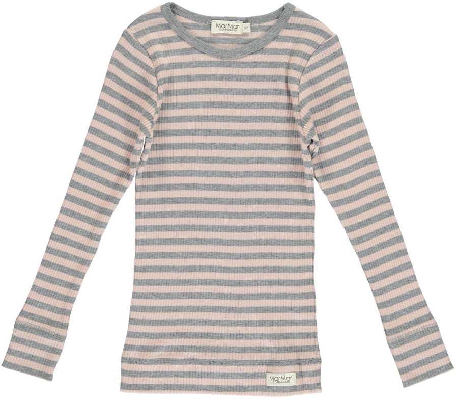 Rose & Grey Stripe Tee by MarMar