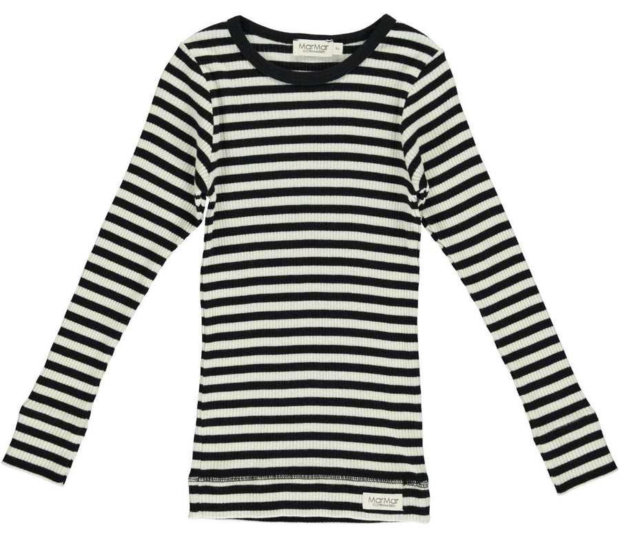 White & Black Stripe Tee by MarMar