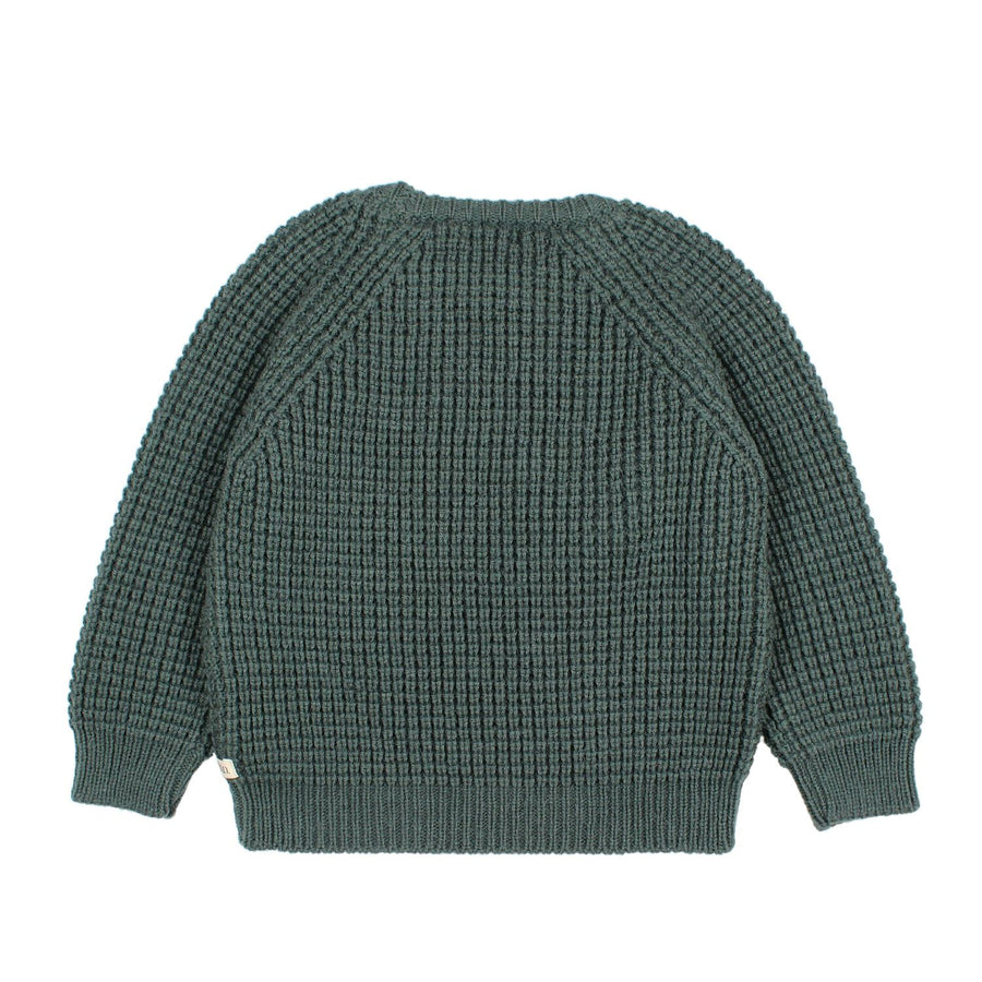 Green Serge Sweater by Buho