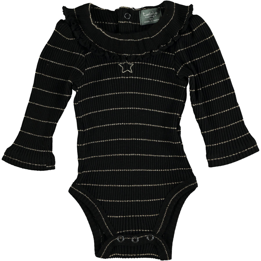 Black Ribbed Body with Lurex by Tocoto Vintage