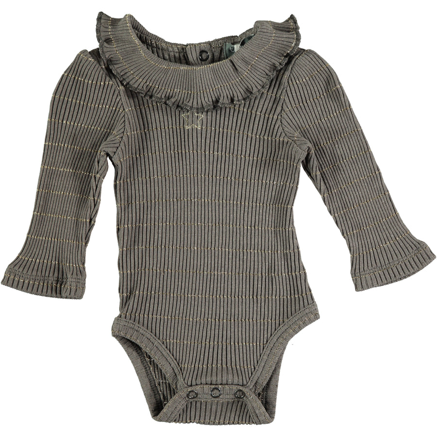 Grey Ribbed Body with Lurex by Tocoto Vintage