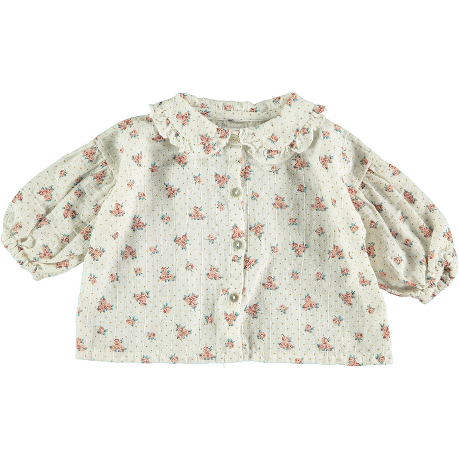 Flower Print Blouse by Tocoto Vintage