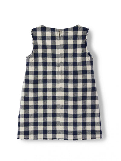 Navy Checkered Jumper by Il Gufo