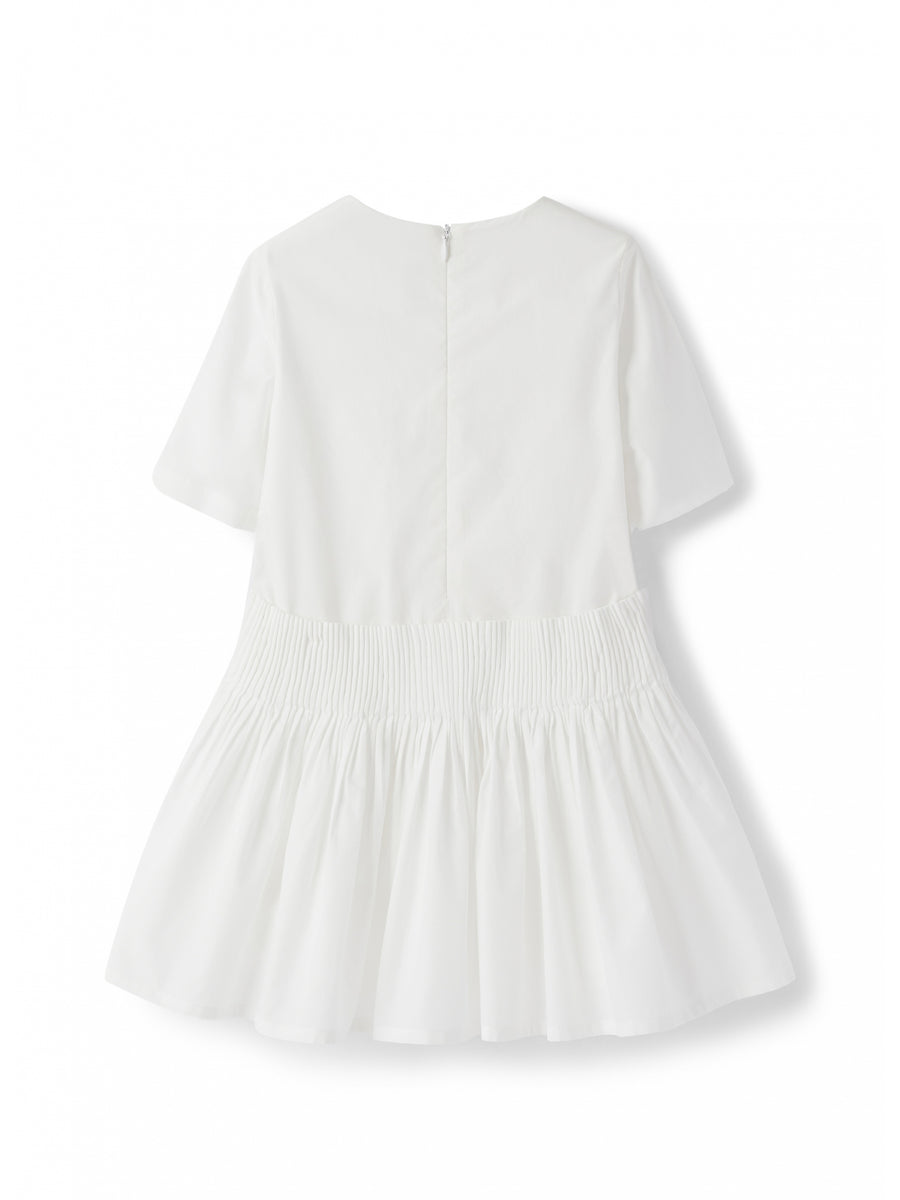 White Waisted Dress by Il Gufo