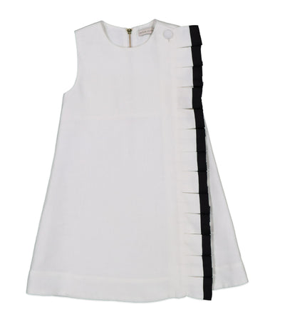 Contrast Border Frill Detail Dress by Carbon Soldier