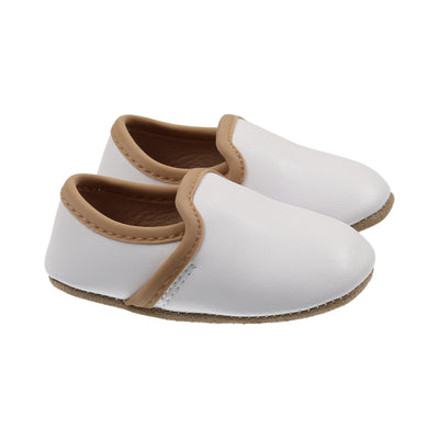 Coconut White Contrast Loafer by Zeebra