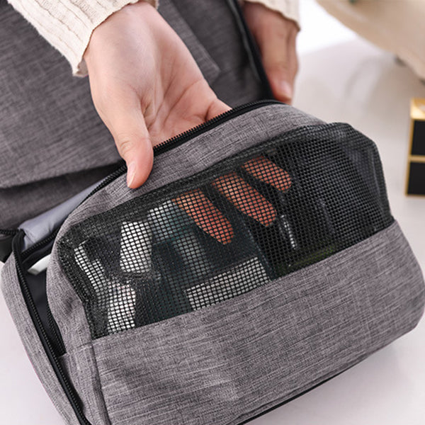 adf1f3ae171c Portable Hanging Travel Toiletry Bag Large Capacity Waterproof Wash Makeup  Organizer Cosmetic Bag