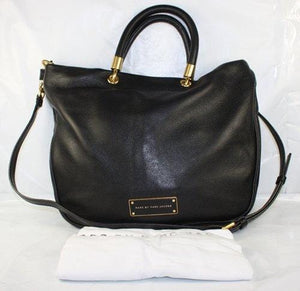 Sac Marc Jacobs Too hot to handle mini shopper cuir noir
