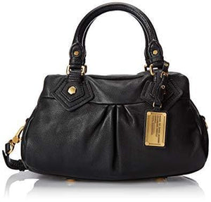 Sac marc by marc jacobs cuir noir baby groove plaque marc jacobs