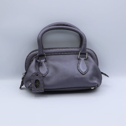 Petit sac Fendi  Adele doctor bag selleria cuir mauve