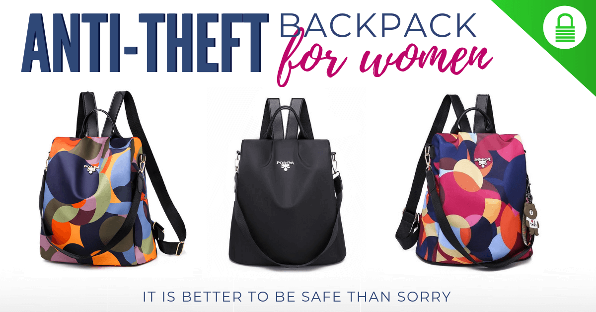 anti theft backpack pickpocket safe bag for women