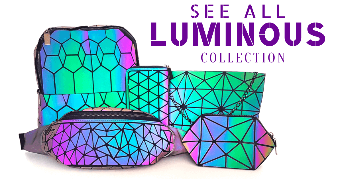 Luminous bags Geometric backpack Luminous Backpack fanny pack Light Reflective bags handbags