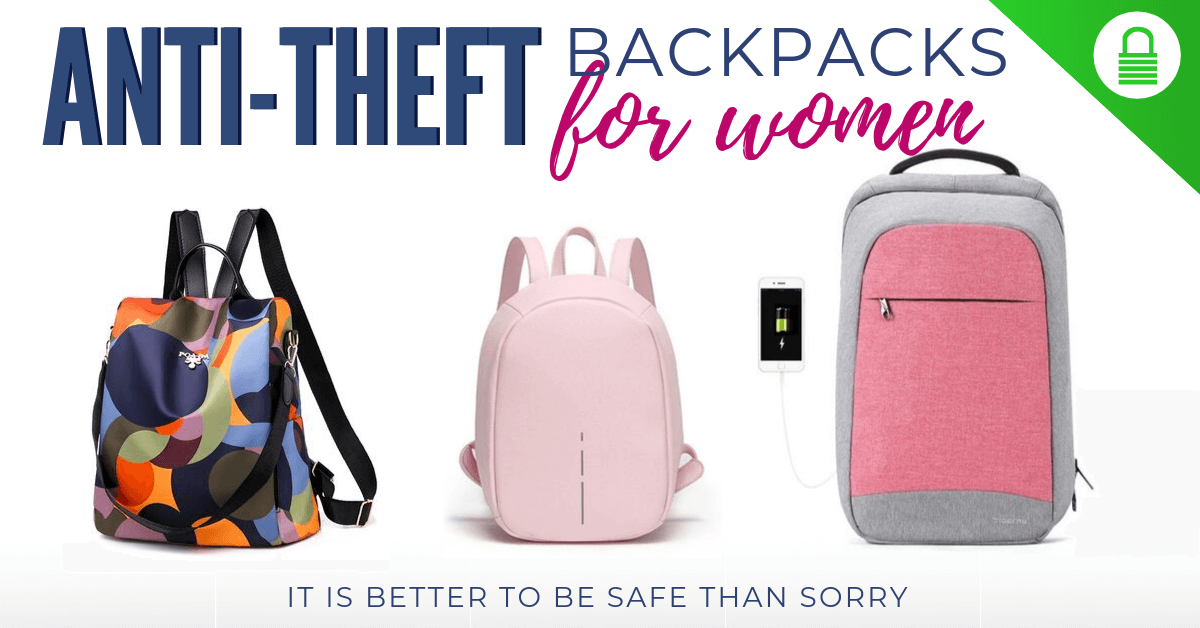 Anti Theft Backpack for women anti pickpocket proof backpacks for girls