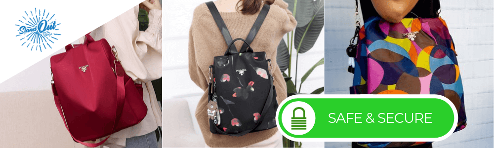 Best anti theft backpack for women best pickpocket proof safe backpack purse for girls