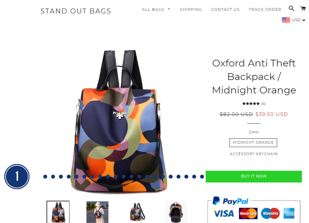 Payments - Stand Out Bags