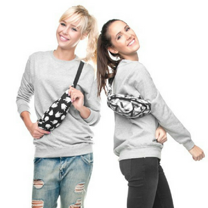 Black & White Middle Finger Fanny Pack