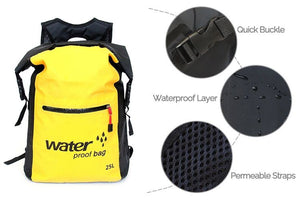 Waterproof dry bag backpack features