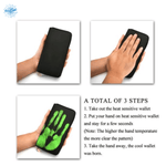 3 steps of heat sensitive wallet - Stand Out Bags