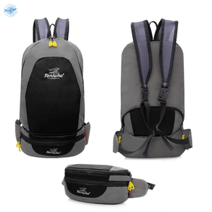 Packable Backpack Tanluhu Duo Daypack Foldable - Black - Stand Out Bags