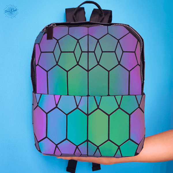 Geometric Luminous Backpack Diamond - Light Reflective Stand Out Bags