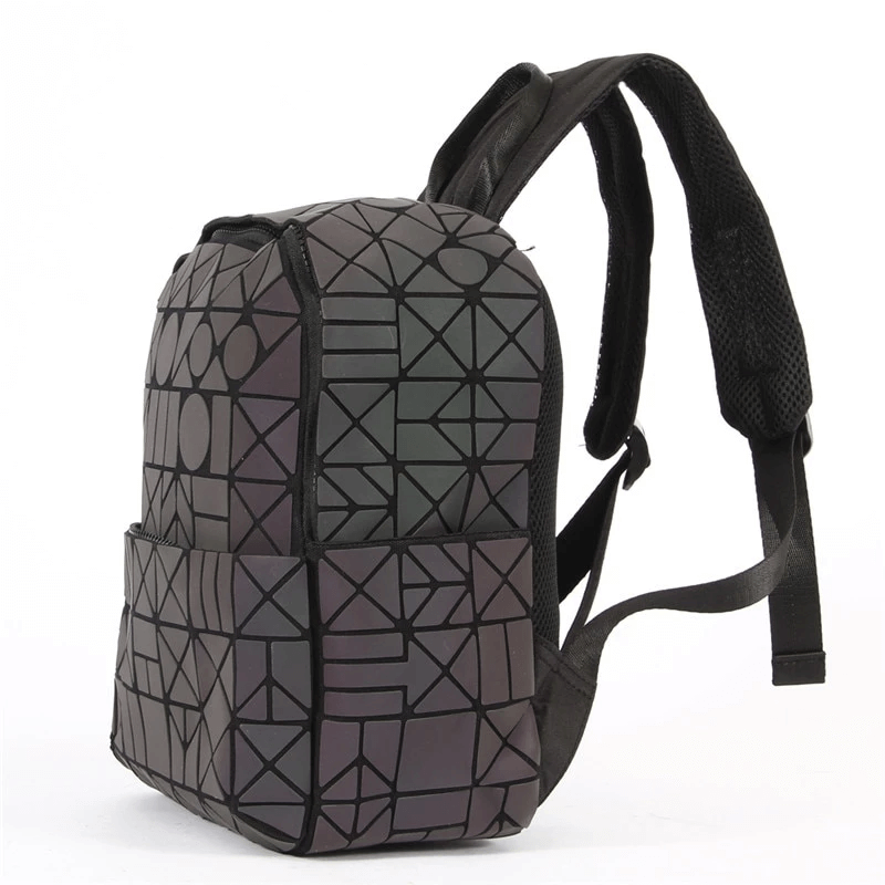 Side View Geometric Backpack - Luminous Backpack Reflective luminesk bags