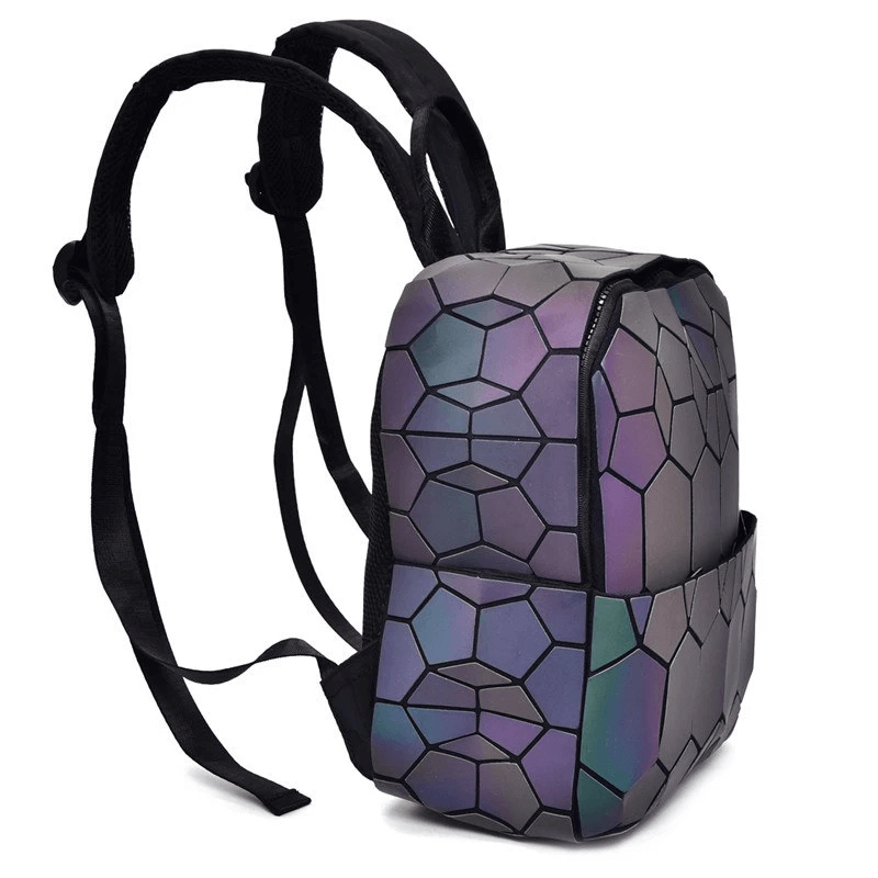 Side View2 Luminous Backpack - geometric Backpack Reflective luminesk bags