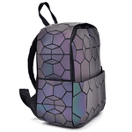 Side view1 honeycomp Geometric Backpack - Luminous Backpack Reflective luminesk bags