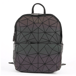 Triangles Geometric Backpack - Luminous Backpack Reflective luminesk bags