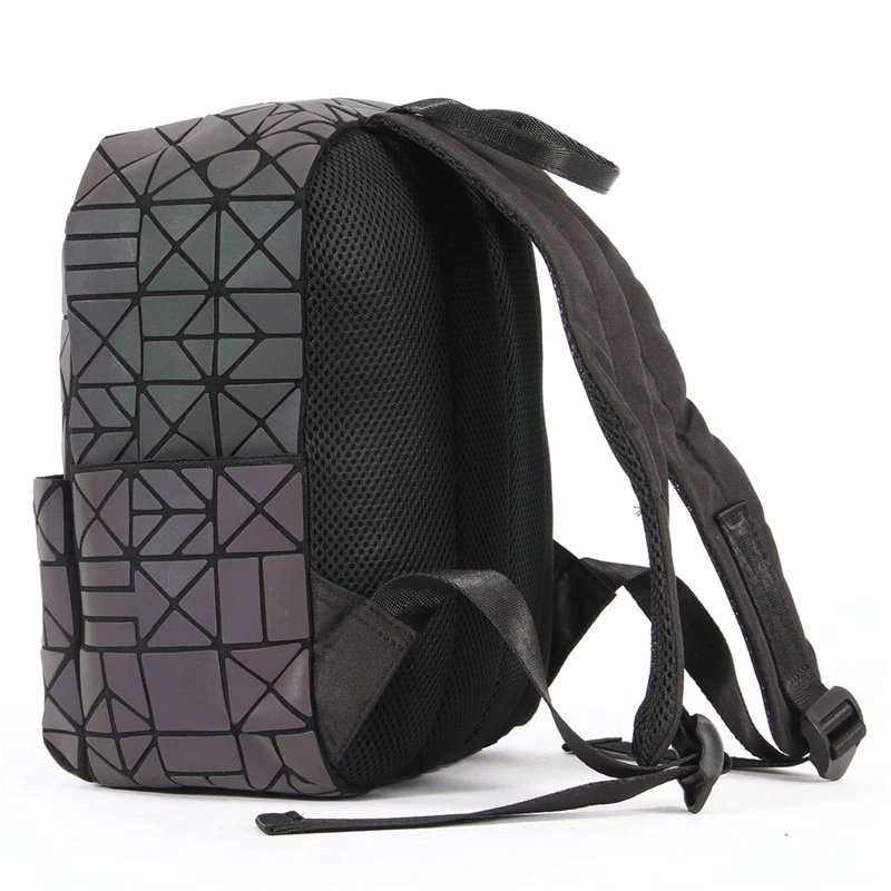 back view Geometric Backpack - Luminous Backpack Reflective luminesk bags