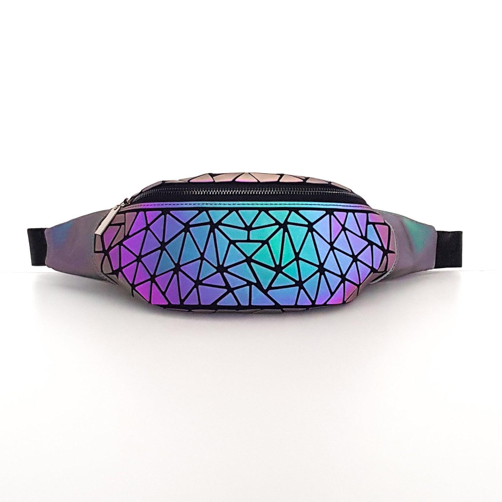 Geometric Luminous Fanny pack waist Light reflective Geometric bum bag - Stand Out Bags