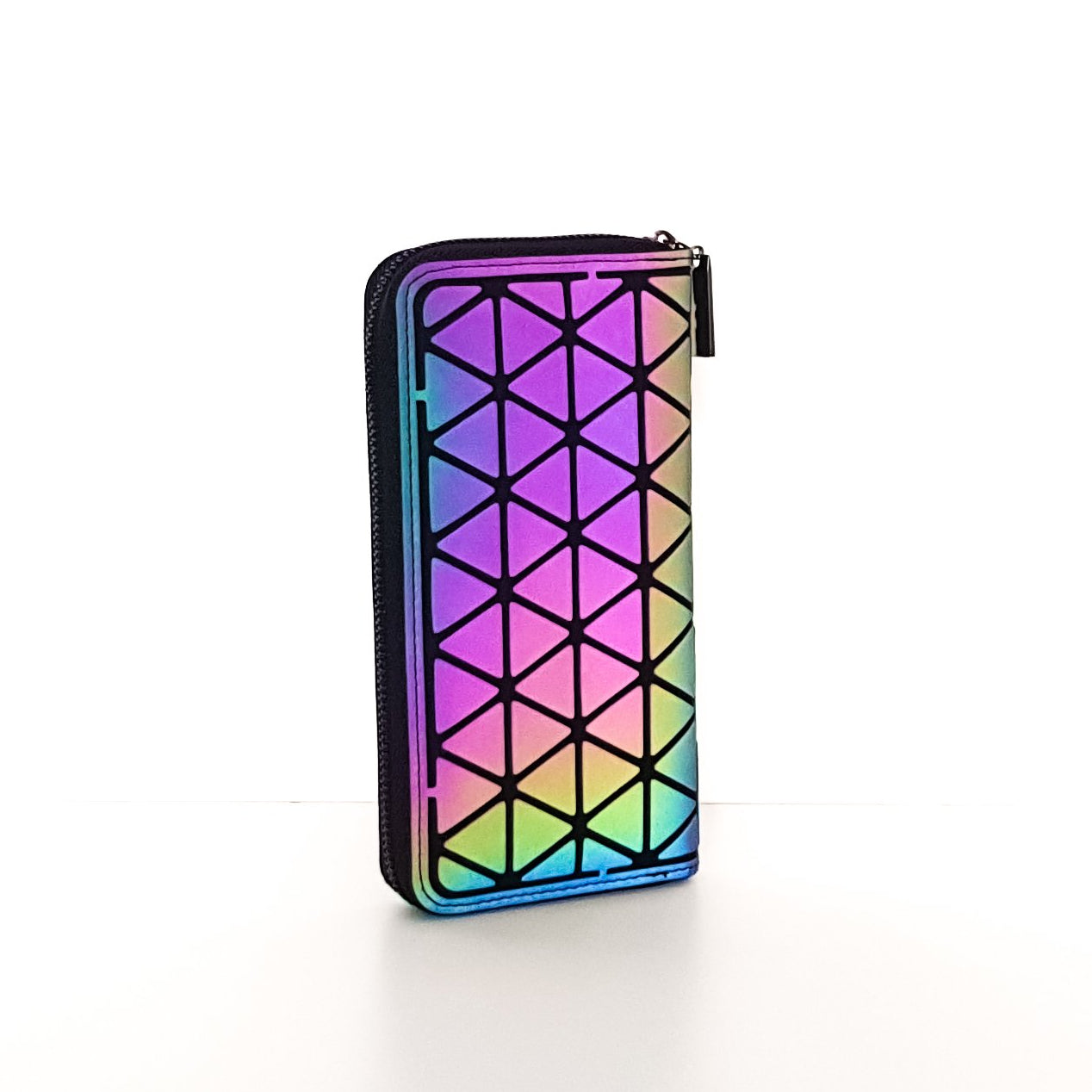 Real Holographic Geometric Luminous Wallet - Stand Out Bags