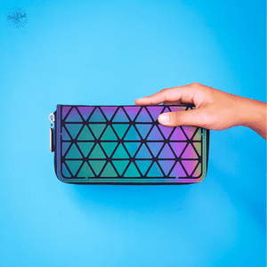 Geometric Luminous Wallet - Stand Out Bag