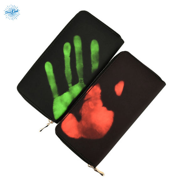 Hand mark on Heat Sensitive Wallet - Stand Out Bags