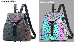 Holographic Luminous Backpack - Geometric Backpack