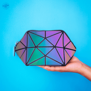 Luminous Makeup Bag - Geometric bag for cosmetics from Stand Out Bags