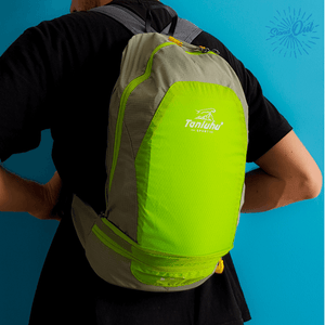Men wearing green Packable backpack Tanluhu Duo Foldable backpack  - Stand Out Bags