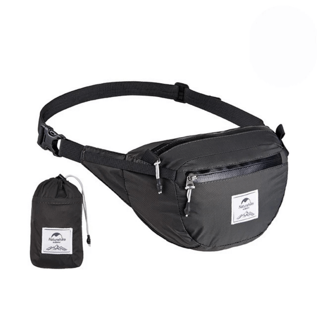 Naturehike Packable Fanny Pack - Foldable Bag - Black