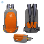 Packable Backpack Tanluhu Duo Daypack Foldable - Orange - Stand Out Bags