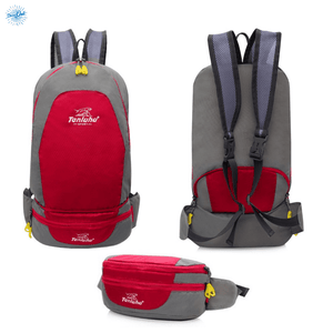 Packable Backpack Tanluhu Duo Daypack Foldable - Red - Stand Out Bags