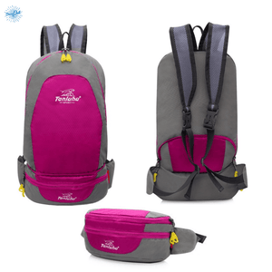 Packable Backpack Tanluhu Duo Daypack Foldable - Rose Pink - Stand Out Bags
