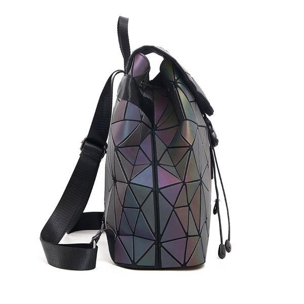 Side View Luminous Backpack Geometric Backpack