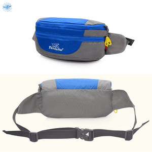 Packable backpack Tanluhu Duo Daypack folded as fanny pack - Stand Out Bags