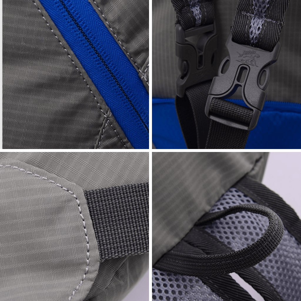 Foldable Backpack Tanluhu Duo Daypack features - Stand Out Bags