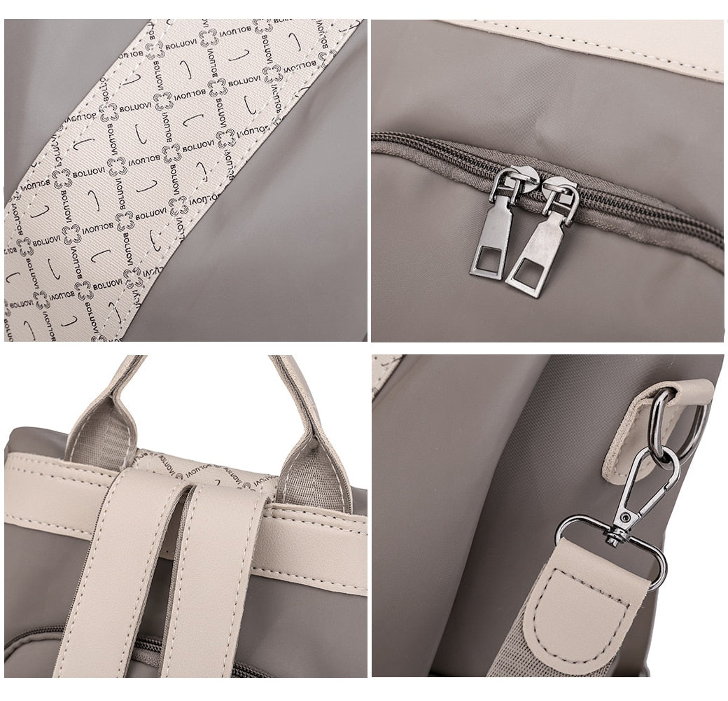 Female Anti-Theft Backpack Purse hidden pockets