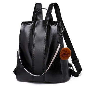 Faux Leather Anti Theft Backpack Purse - Pickpocket Proof Safe backpack purse