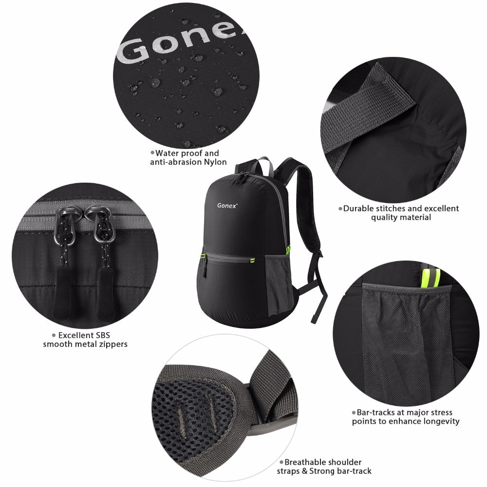 Packable Backpack 20L Gonex - Features