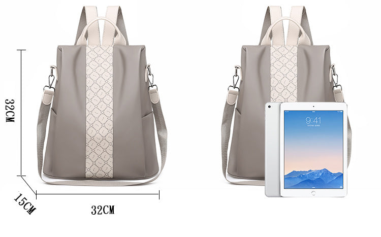 Anti-Theft Backpack Purse size pickpocket proof bag for ipad