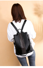 black Anti-Theft Backpack Purse