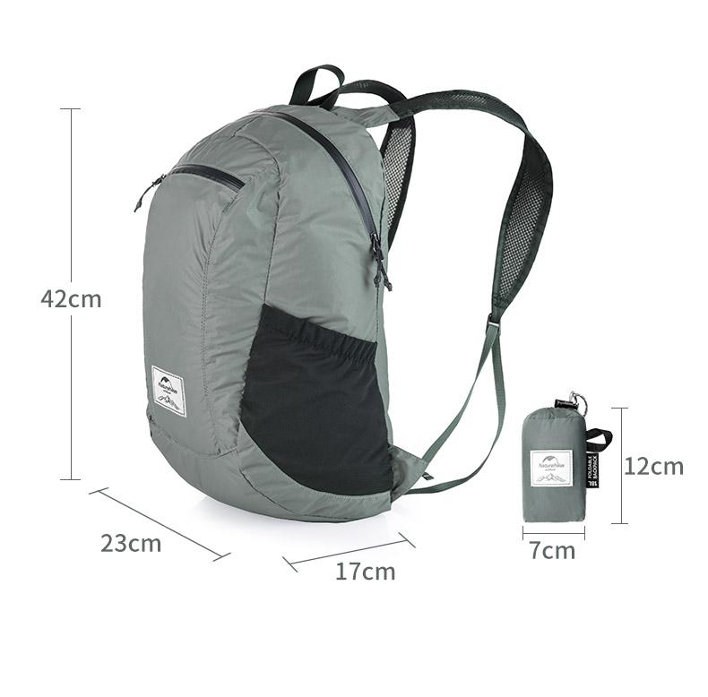 NatureHike Packable Backpack 18L - Grey - Size