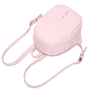 Pink anti pickpocket mini backpack for girls